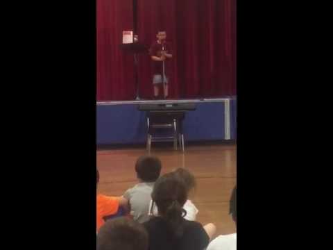 Tyler at the Pingree School Talent Show