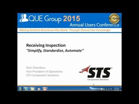 "Receiving Inspection ""Simplify, Standardize, Automate"""