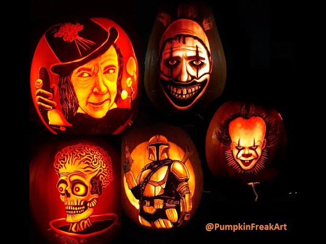 Halloween Pumpkin carving ideas - PumpkinFreak showreel 20