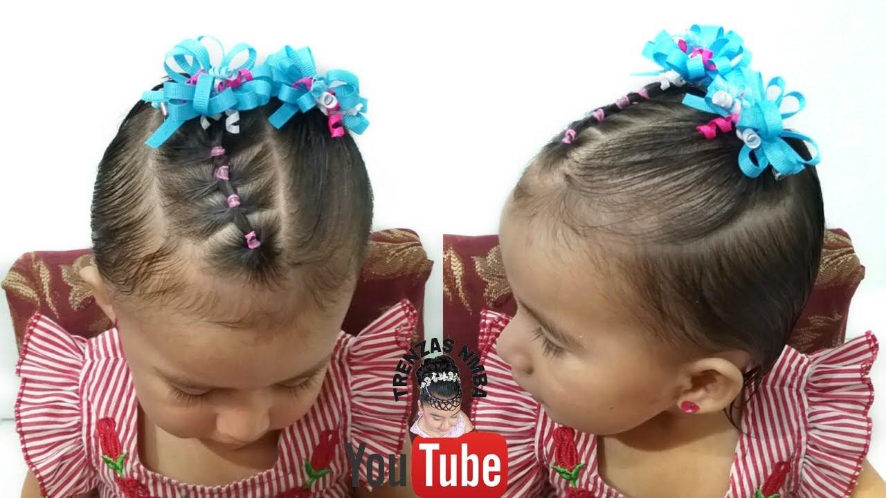 Ideas de estilo para peinados bebe niña Colección De Cortes De Pelo Tutoriales - Como Peinar A Tu Bebe En Poco Cabello Facil Con Ligas Easy ...