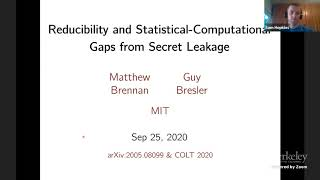 Reducibility and Statistical-Computational Gąps from Secret Leakage