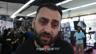 "Coach Edmond Tarverdyan on GGG fight ""Vanes will bang it out with Golovkin!"""
