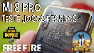 Mi 8 Pro-Test games Free heavy Fire PUBG and Fortnite