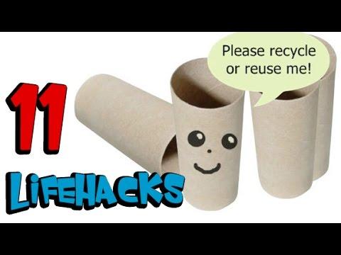 11 Best Life Hacks with Toilet Paper Rolls - DIY life hacks TLT ...