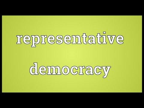 Representative democracy Meaning