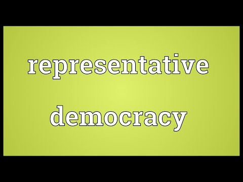 Representative democracy Meaning