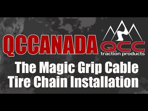 QCC-The Magic Grip Cable Tire Chain Installation