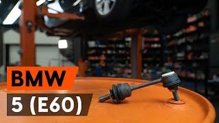 Hoe een achteraan stabilisatorstang vervangen op een BMW E60 [AUTODOC-TUTORIAL]
