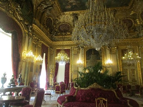 Napoleon III-The Splendor of Napoleon Bonaparte's Apartment in Louvre, Paris