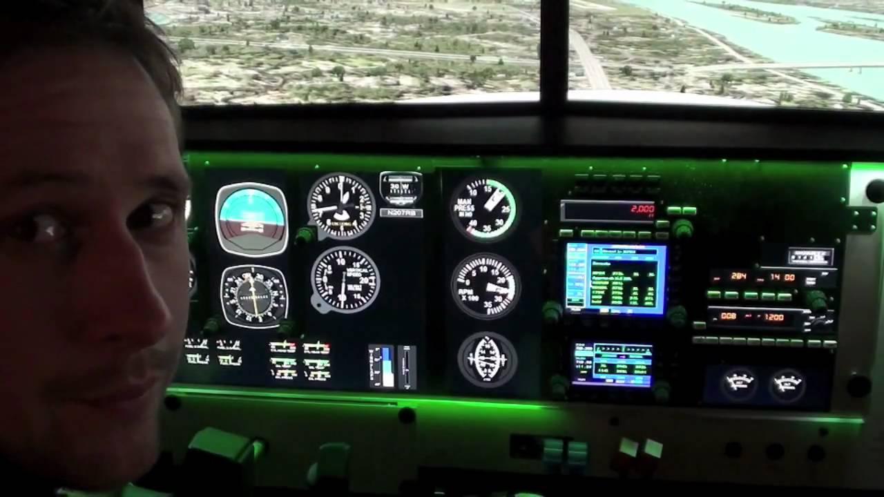 B & E Aviation's Redbird FMX Full Motion Flight Simulator