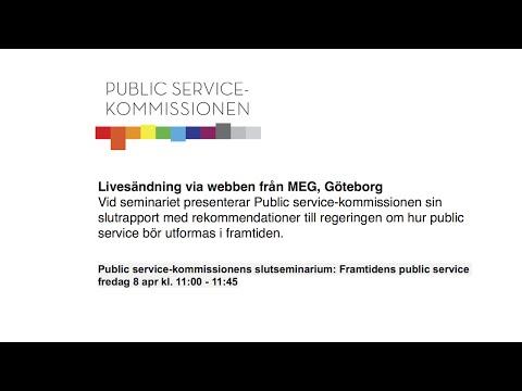 Public service-kommissionen släpper rapport