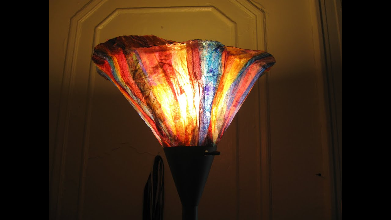 From Vase to Lampshade Tissue Paper Art - YouTube