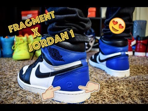 9077e1832a8789 Biggest Grail Pick UP! Fragment X Air Jordan 1 Review + On Feet. Meeks Shoes