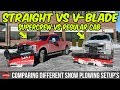 Comparing Snow Plow Setup's - Straight Vs V-Blade - Regular Cab Vs SuperCrew | Hanging w/ Alex Lica