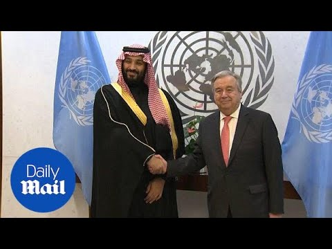 Saudi Crown Prince Salman meets with UN Secretary-General in New York - Daily Mail