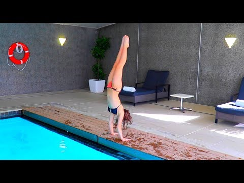 INDOOR POOL GYMNASTICS!