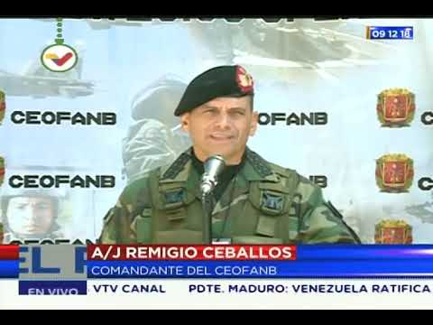 Remigio Ceballos, comandante del Ceofanb, da reporte sobre normalidad de Elecciones