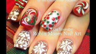 2 Nail Art Tutorials | Diy Christmas Nails! | Xmas Sweaters & Candy Nail Design