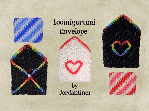Loomigurumi / Amigurumi Envelope Gift Card Holder - Rubber Band Crochet - Birthday - Rainbow Loom