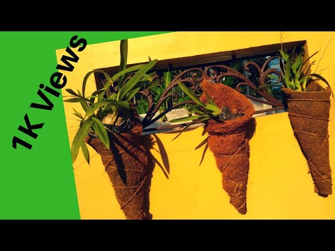 Orchid planters using coir mat/പഴയ കയർ മാറ്റ് കളയല്ലേ/DIY planters/No cost planters