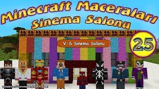 Minecraft Maceraları 25. Bölüm Venom ve Sincap'ın Sinema Salonu Örümcek Adam Minecraft'ta