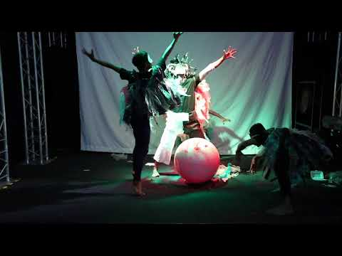 """Angkor Roo"" (Full Performance) - the Recycling Rooster - Bambu Stage at UN Habitat Event"