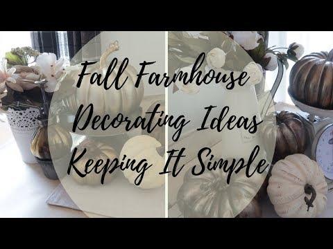 Fall Farmhouse Decorating Ideas 2019