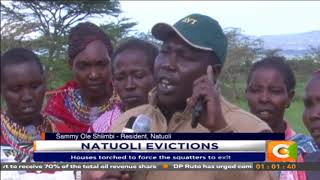 Video: Houses torched as police evict squatters in Narok