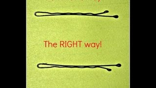 The Right Way to Use Bobby Pins!