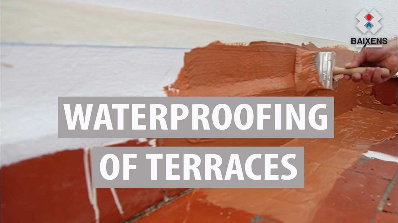 Waterproofing of terraces with leaks, details system of application
