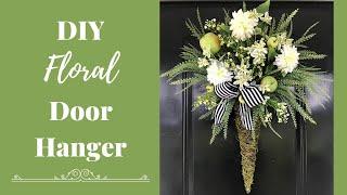 Sassy Apple Door hanger with beautiful flowers