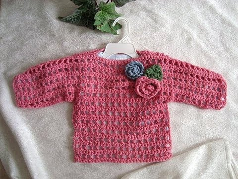 Pink Summer Crochet Sweater Baby To Adult Crochet Pattern How To