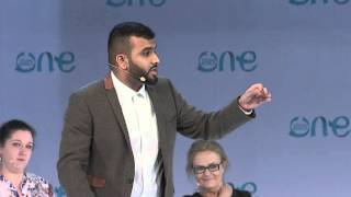 Hussain Manawer speech One Young World summit Bangkok 2015
