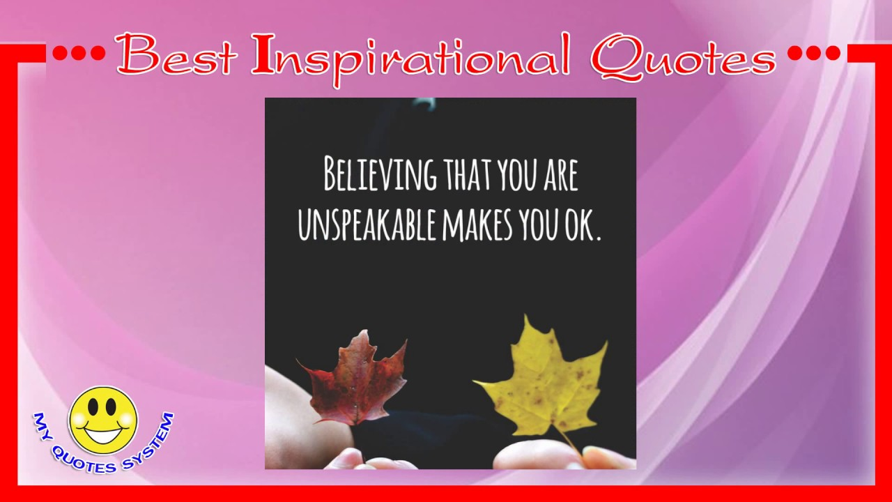 Small Inspirational Quotes Cool ☀ Short Inspirational Quote Of The Day  Best Quote  Youtube