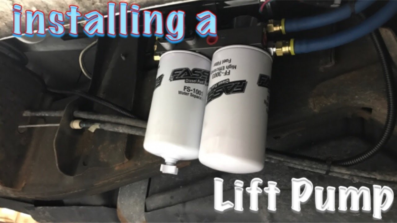 How to install a lift pump on a duramax - YouTube