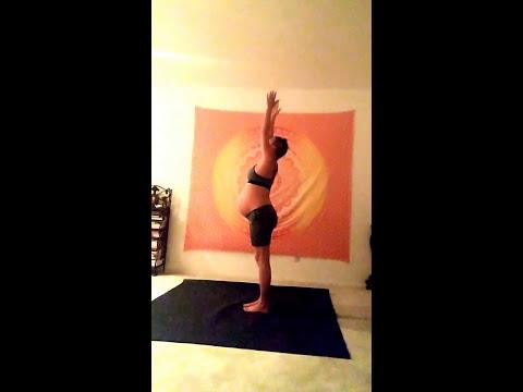 Kristina Daniels 9 Months Pregnant Intuitive Yoga Practice