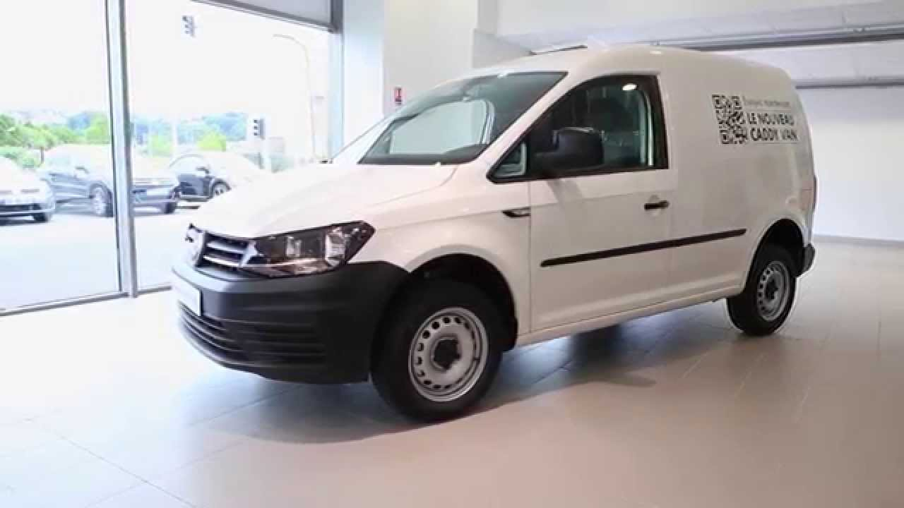 volkswagen utilitaires caddy van 1 6 cr tdi 102 blanc candy youtube. Black Bedroom Furniture Sets. Home Design Ideas