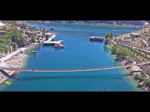 Muhtesem Manzara Halfeti-Urfa-Karagul-drone-4K-VIDEO