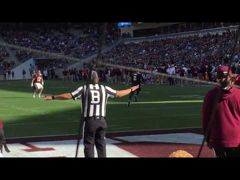 Johnny Manziel Returns Missed Field Goal At Texas Aggie Spring Game 2018