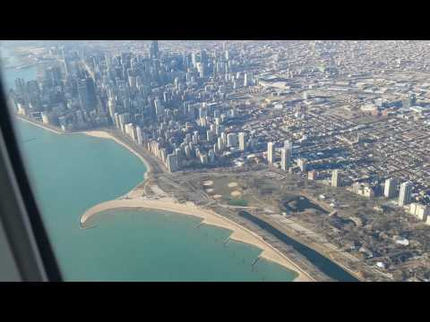 All Nippon Airways 777-300 Landing at Chicago O'Hare International Airport