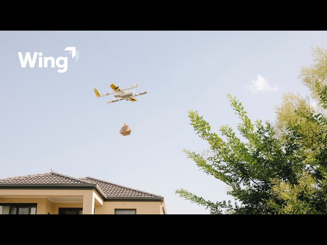 How does Wing's drone delivery service work?