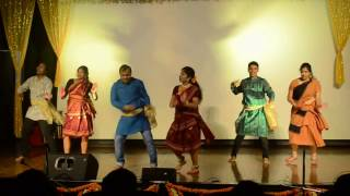 sambalpuri dance performance by devi prasad and team on utkala divasa 2017 iit bombay