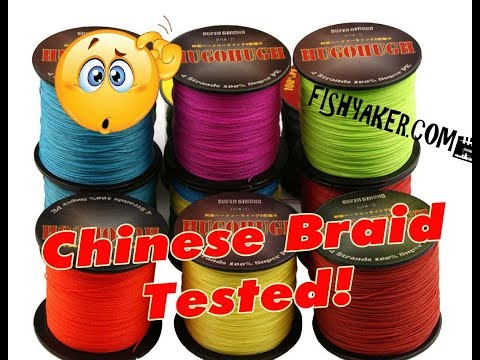 Hugohugh Chinese Braid Fishing Line Test: Episode 630