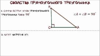 Геометрия  Прямоугольный треугольник и его свойства
