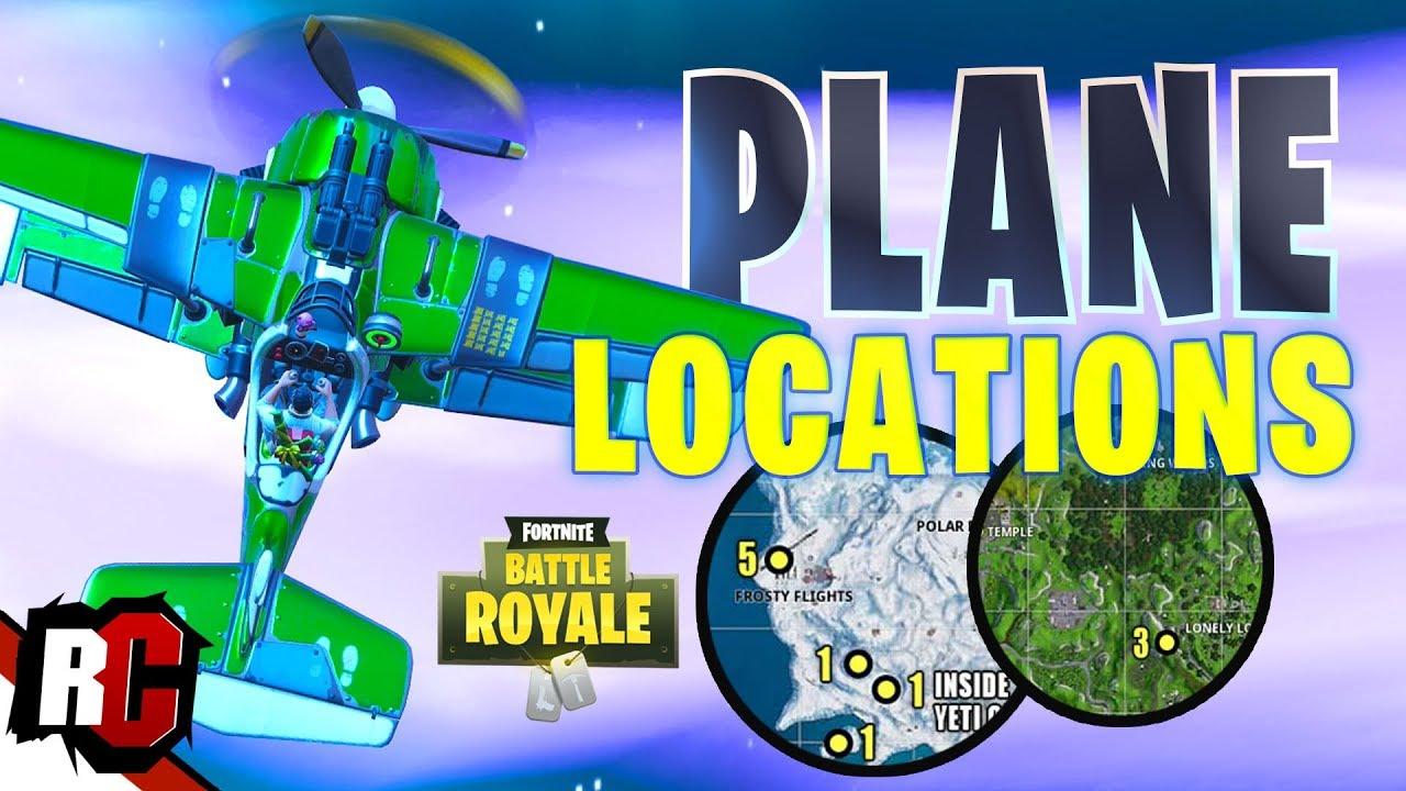 Fortnite All Plane Spawn Locations X 4 Stormwing Season 7 Map