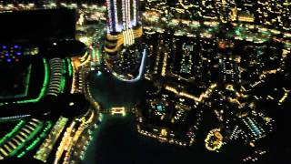 Burj Khalifa - At the Top, observation deck view at night