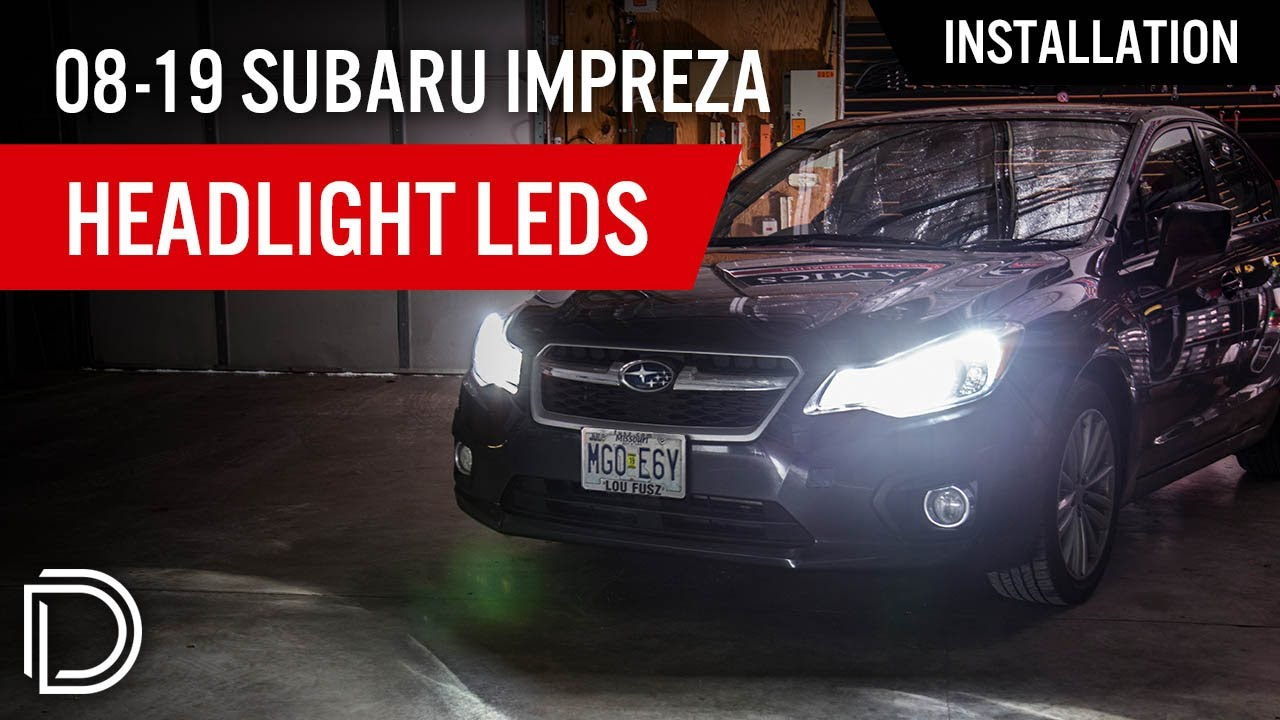 hight resolution of how to install 2004 2017 subaru impreza headlight leds diode dynamics