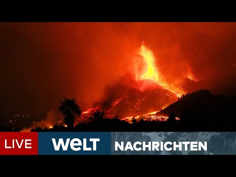 VULKANAUSBRUCH AUF LA PALMA: Sechs Meter hohe Lavaströme! Alarm auf Kanareninsel | WELT Newsstream