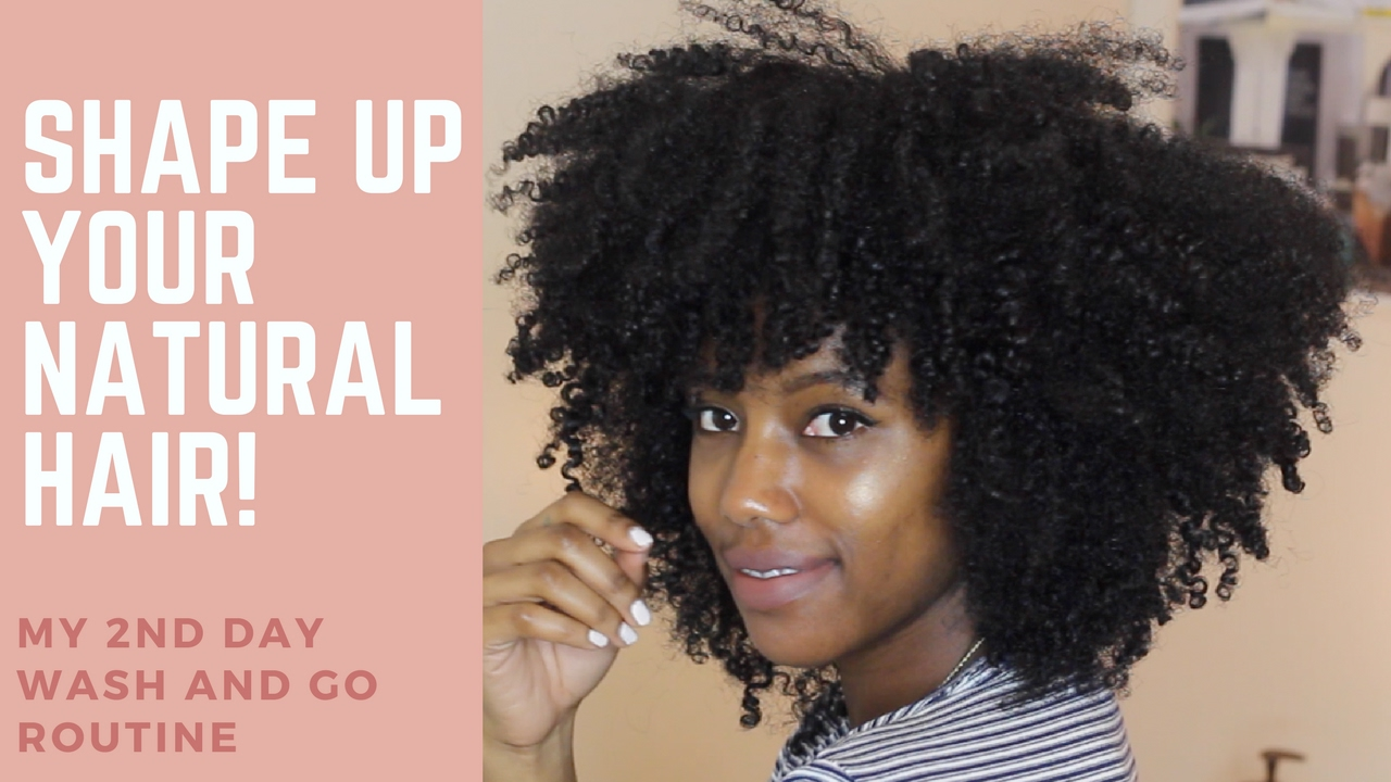 82117f079b516 Shaping Second Day Natural Hair - YouTube