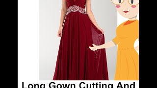 long gown cutting and stitching diy tailoring with usha